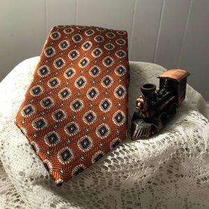 Jos. A. Bank Men's Tie Burnt Sienna Navy Cream